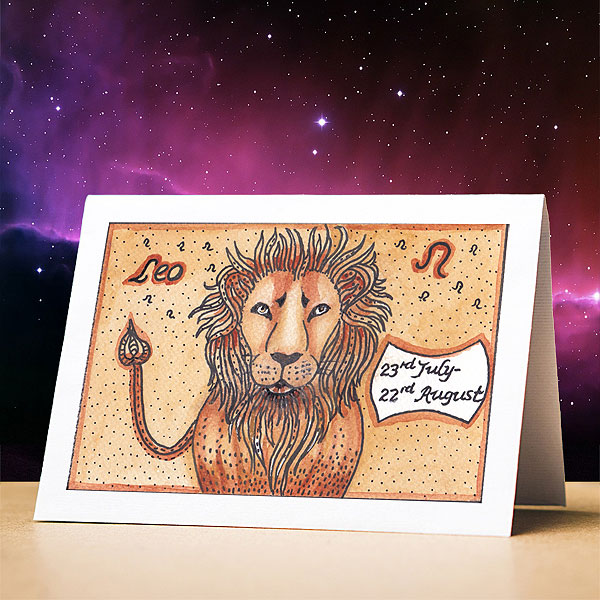 Leo Birthday Card, July 23rd - August 22nd
