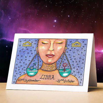 Libra Birthday Card