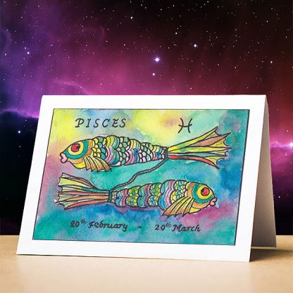 Pisces Birthday Card