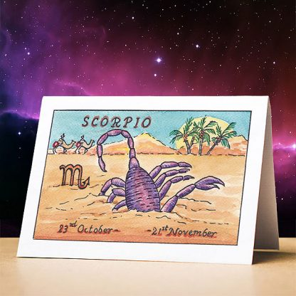 Scorpio Birthday Card