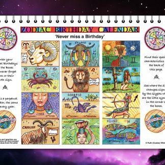 Zodiac Birthday Calendar